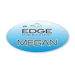 Full Color Oval Name Tag
