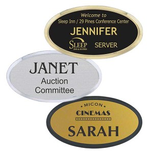 Deluxe Oval Engraved Name Tag